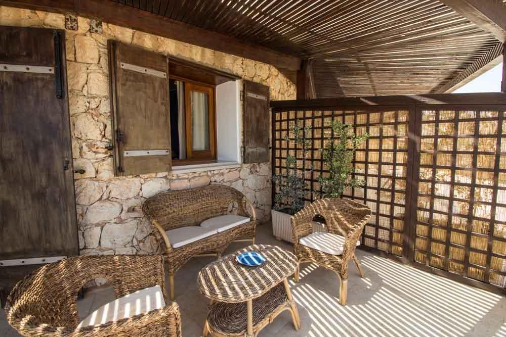 The bedroom terraces